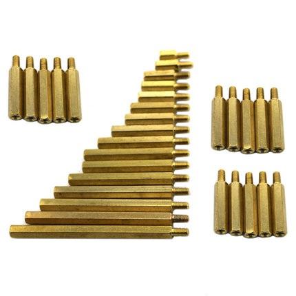 น๊อตทองเหลือง M2 30+3mm จำนวน 5 ชิ้น