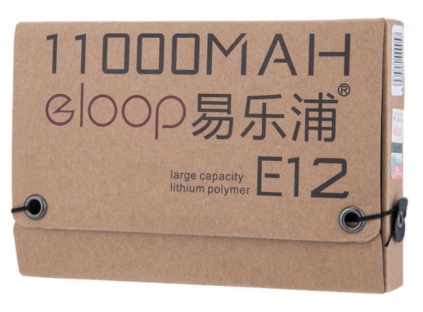 Power bank ELOOP E12 แบตเตอรี่สำรองแบบพกพา สำหรับชาร์จอุปกรณ์มือถือสมาร์ทโฟน เช่น iPhone iPad Samsung และ แท็บเล็ตต่าง ๆ คุณภาพแบตเตอรี่เกรด A ลิเธียม โพลีเมอร์ (Lithium Polymer) มีให้เลือกทั้งหมด 5 สี ฟ้า เขียว เหลือง ดำ ลายไม้ มี LED สีน้ำเงิน บอกสถานะ แบต 4 ดวง เมื่อไฟแบตเตอรี่ เหลือ 25% 50% 75% 100%