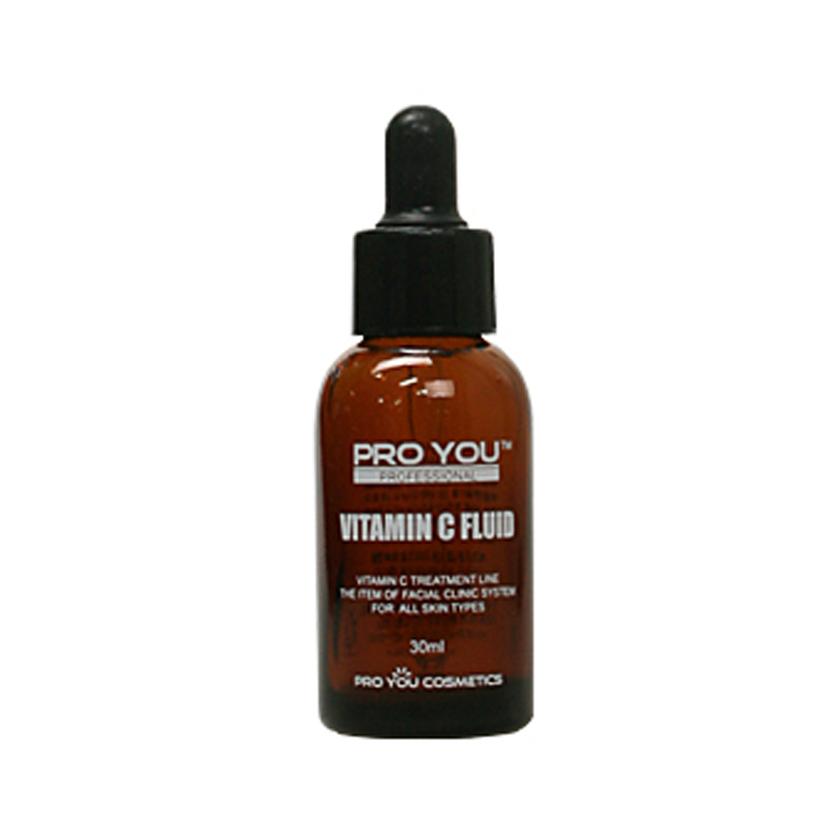 Proyou Vitamin C Fluid 30ml (เซรั่มบำรุงผิวหน้า ที่มีประสิทธิภาพในการลดรอยดำ ฝ้า รอยหมองคล้ำ ปรับโทนสีผิวให้กระจ่างใสขึ้น ด้วยปริมาณวิตามินซีเข้มข้นในผลิตภัณฑ์ถึง 15%)