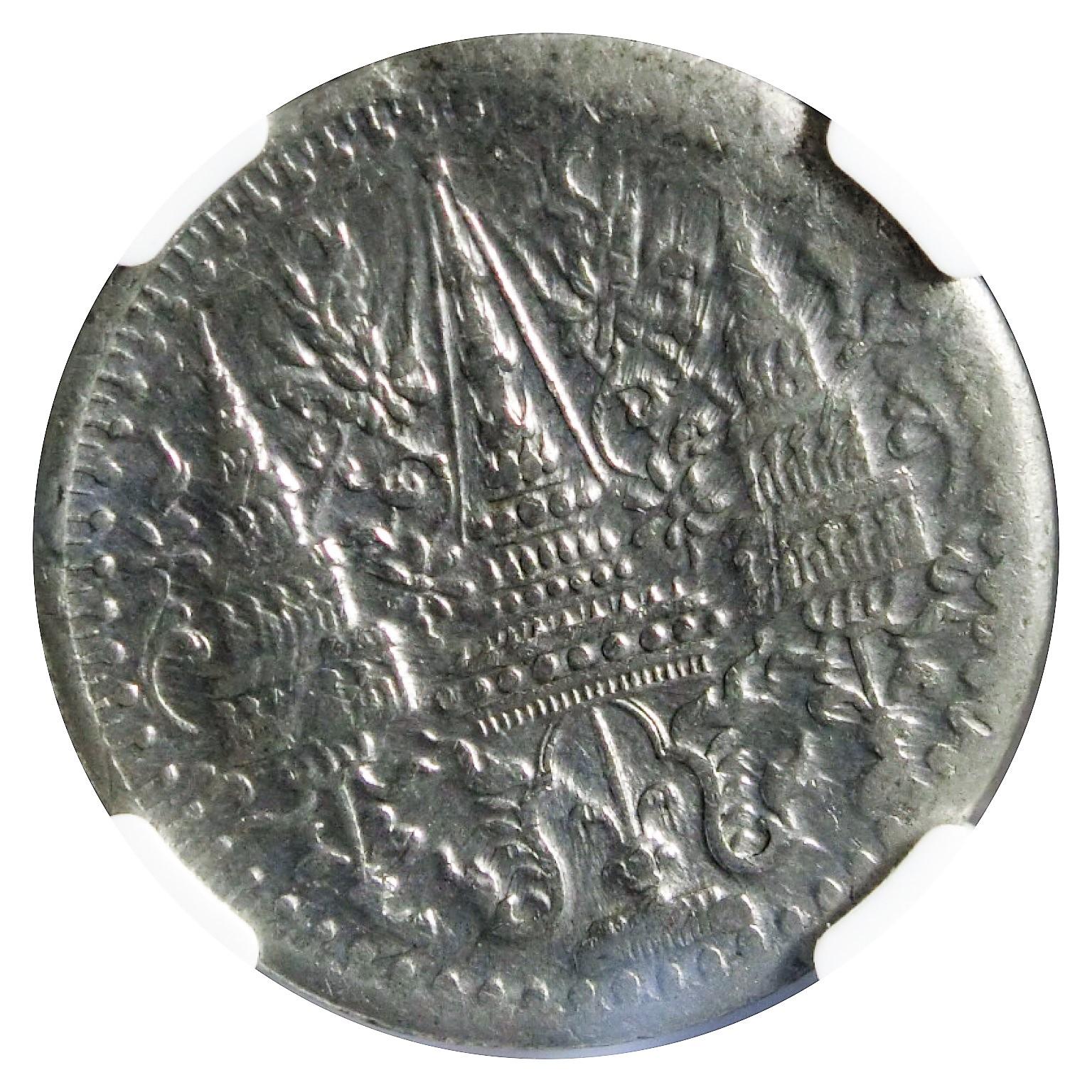 เหรียญกษาปณ์ดีบุก ชนิดราคา 1โสฬส รัชกาลที่4 AU 58