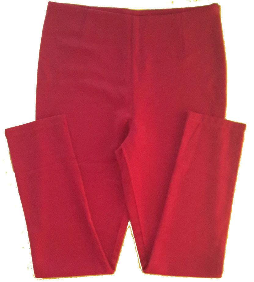 กางเกงขาเดฟเอวสูง ผ้าฮานาโกะ สีเลือดหมู Size S M L XL สำเนา