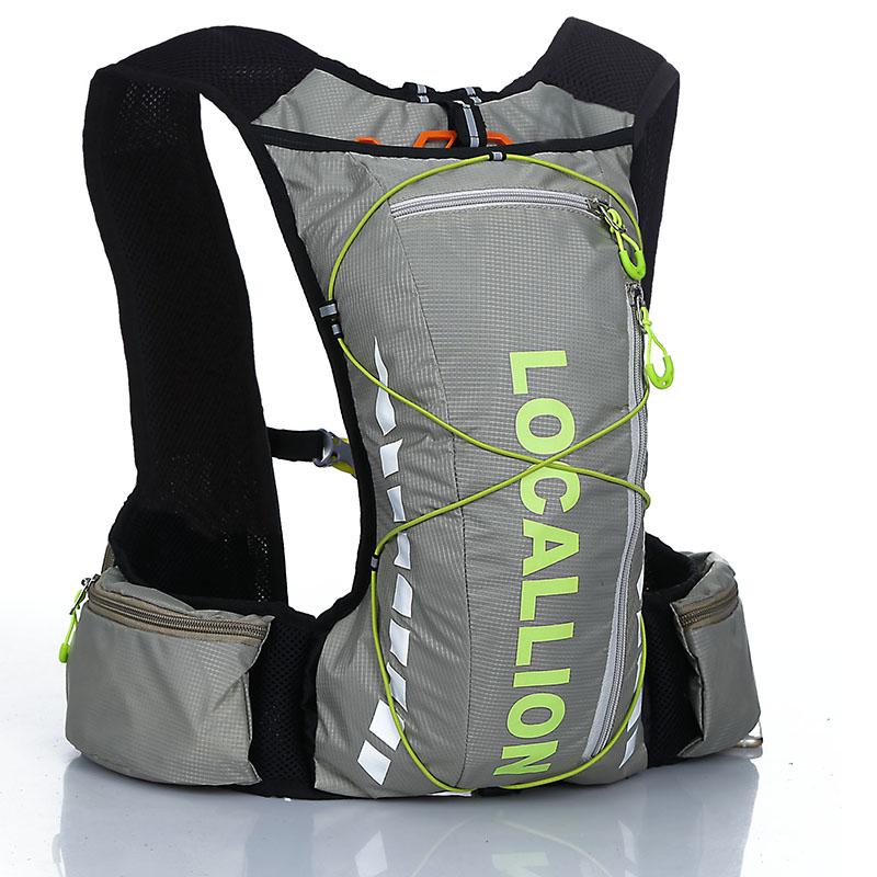 เป้น้ำ สไตล์เสื้อกั๊ก พร้อมถุงน้ำขนาด 2 ลิตร (Hydration Vestpack with Bladder) สีเทา