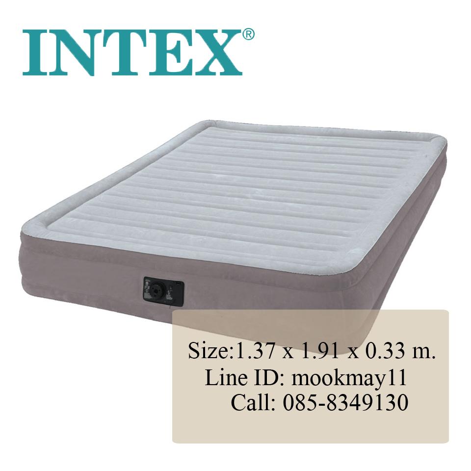 Intex Comfort Plush Queen ที่นอนเป่าลมปั้มลมในตัว 4.5 ฟุต 67768