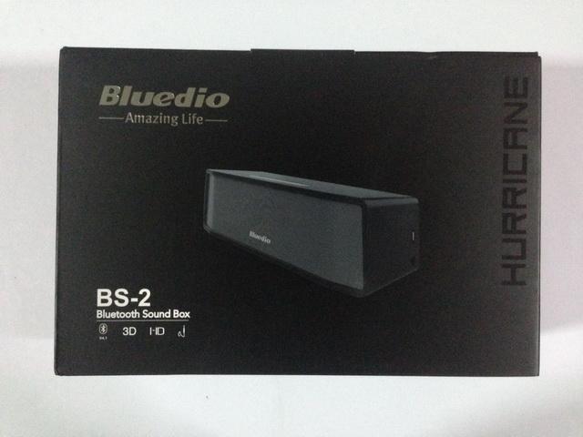 หน้ากล่อง ลำโพงบลูทูธ Bluedio BS-2 สีดำ