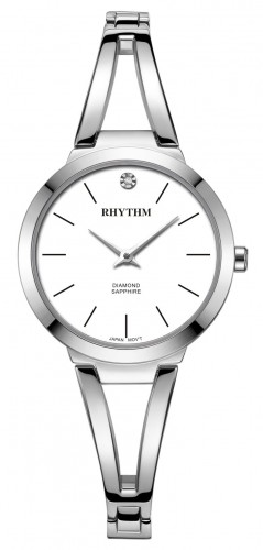 นาฬิกาผู้หญิง Rhythm รุ่น L1501S01, Diamond Sapphire L1501S 01, L1501S-01