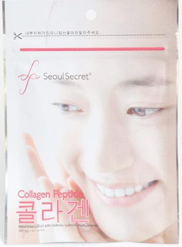 Seoul Secret Collagen Peptide ชนิดซอง บรรจุ 60 เม็ด (จำนวน 1 ซอง)