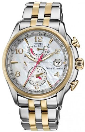 นาฬิกาข้อมือผู้หญิง Citizen Eco-Drive รุ่น FC0004-58D, Global Radio Controlled AT Sapphire World Time Dual Tone