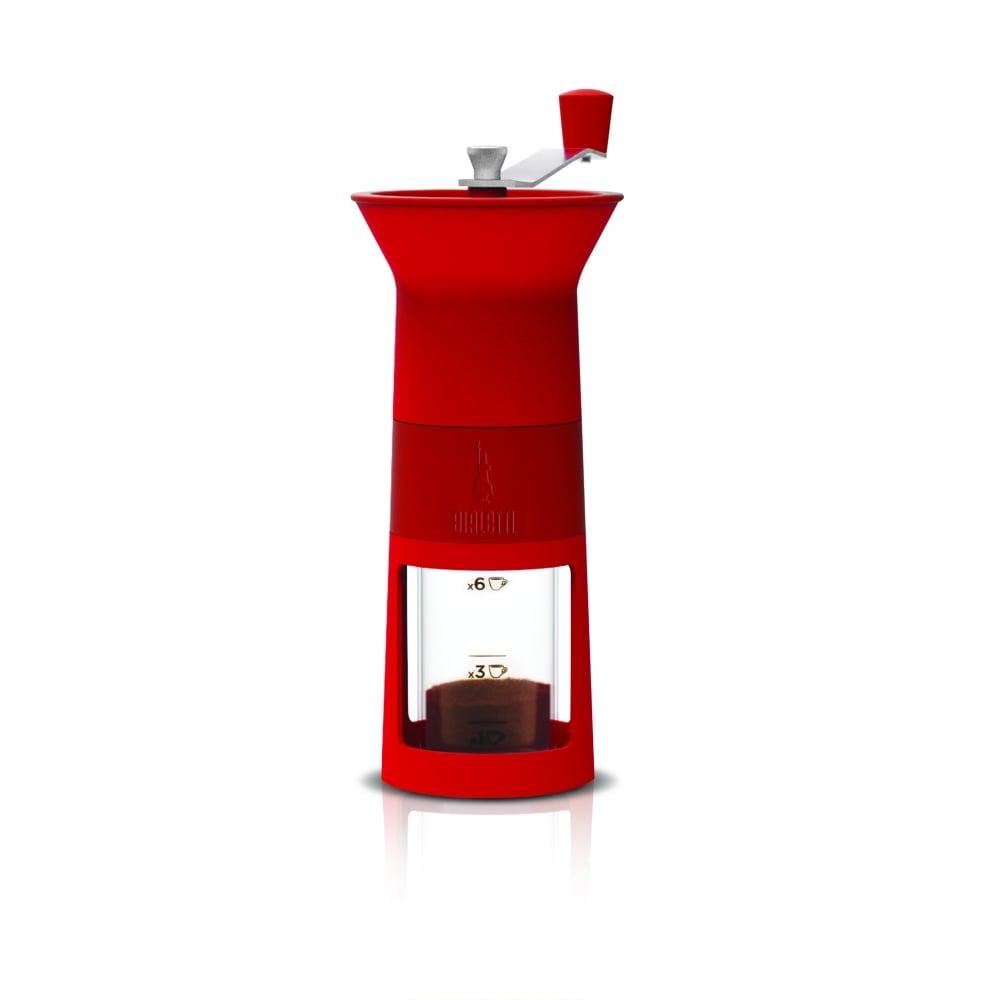 Bialetti ที่บดเมล็ดกาแฟมือหมุน รุ่น macinacaffe (สีแดง)