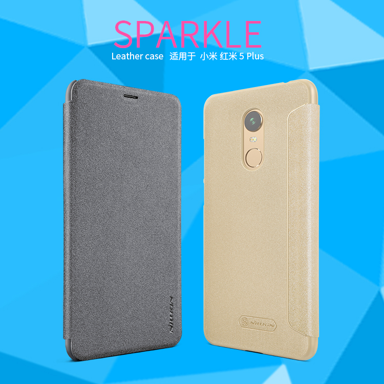 เคส Xiaomi Redmi 5 Plus Nillkin Sparkle Leather Case