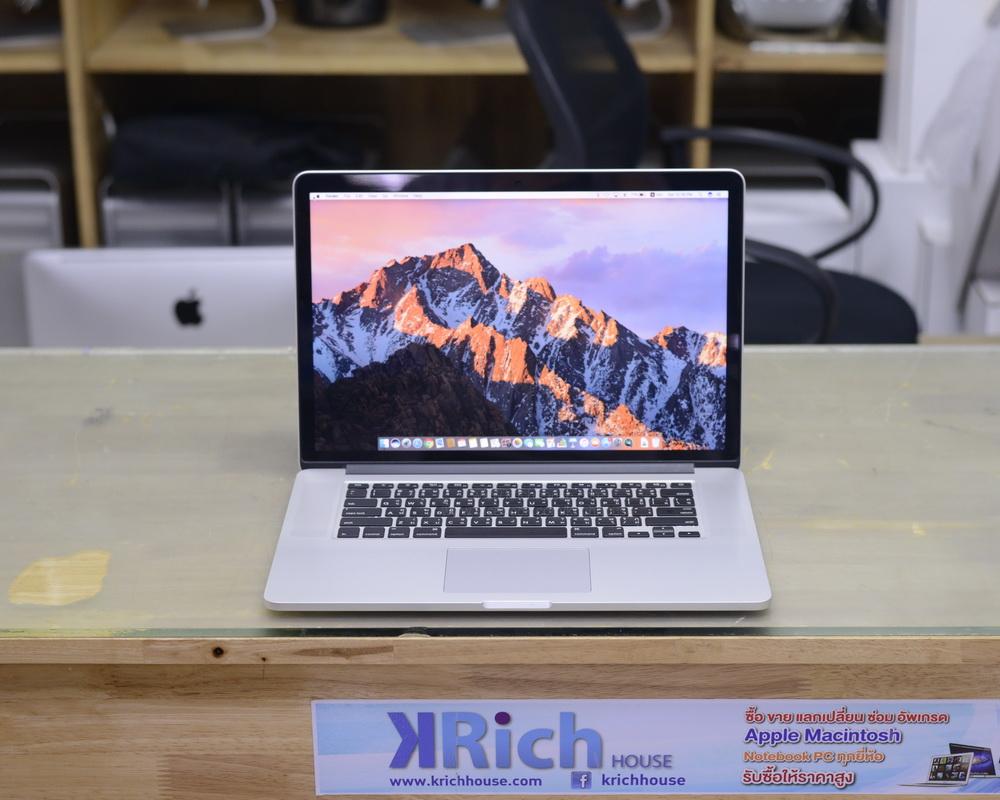 MacBook Pro Retina 15-inch Mid2015 Quad-Core i7 2.2GHz RAM 16GB SSD 256GB