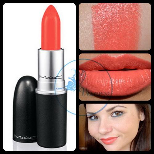 MAC Amplified Cream Lipstick # Vegas Volt 3g (ขนาดปกติ) ลิปสติกสีส้มสวย อีกทางเลือกของความส้มค่ะ