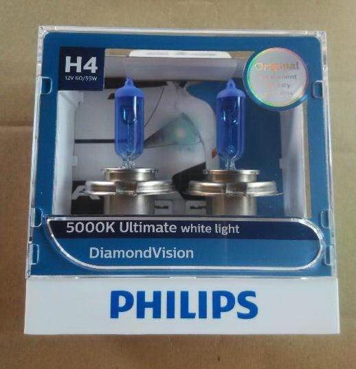 H4 Philips Diamond Vision 5000K ส่งฟรี EMS