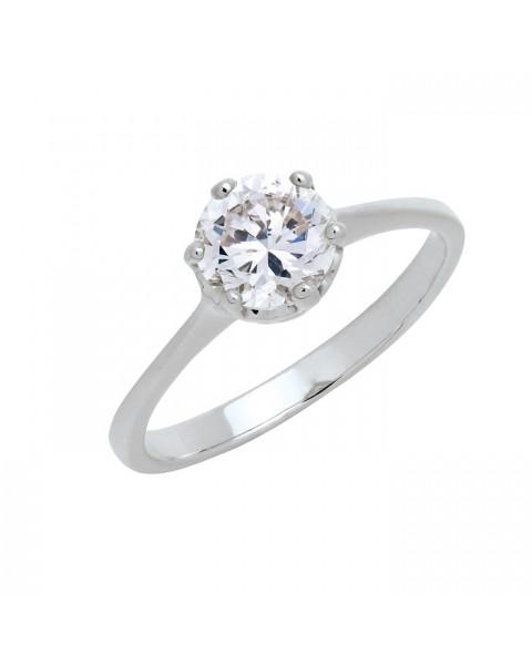 แหวนประดับเพชรฝังหนามเตย หุ้มทองคำขาวแท้