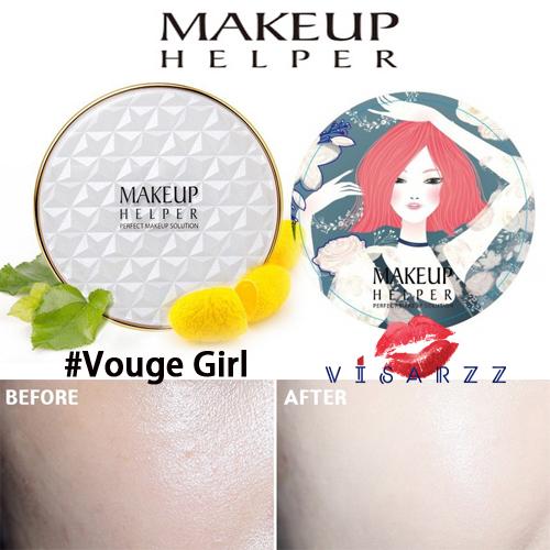 (#22 ตลับลาย Vouge Girl) Makeup Helper Double Cushion Calendula Blossom SPF50+ /PA+++ คูชั่น แป้งน้ำลุ๊คฉ่ำสาวเกาหลีค่ะ ไม่เหนอะ ไม่มันไม่เยิ้ม ทาปุ๊ปแห้งปั๊ป โดยไม่ต้องเติมแป้ง ปกปิดได้อย่างดีแม้แผลเป็นที่ชัดมากๆ ไม่อุดตัน มาพร้อมกันแดด 50เท่า ตลับใหญ