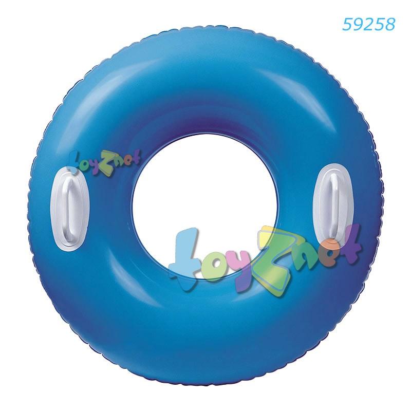 Intex ห่วงยางสีสะท้อนแสงไฮกล๊อสส์ 30 นิ้ว (76 ซม.) สีฟ้า รุ่น 59258BL