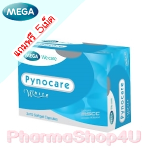 Mega We Care Pynocare White 20เม็ด ไพโแคร์ ไวท์ ลดฝ้า กระ จุดด่างดำ เพื่อผิวขาว เนียนใส