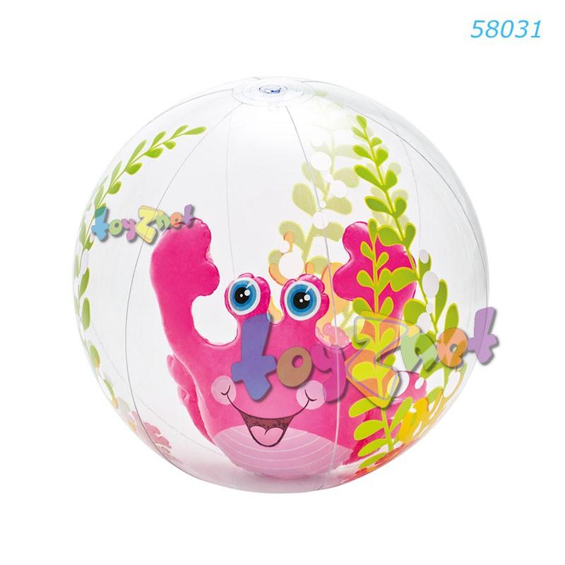 Intex บอลอะแควเรี่ยม 24 นิ้ว (61 ซม.) ปูสีชมพู รุ่น 58031