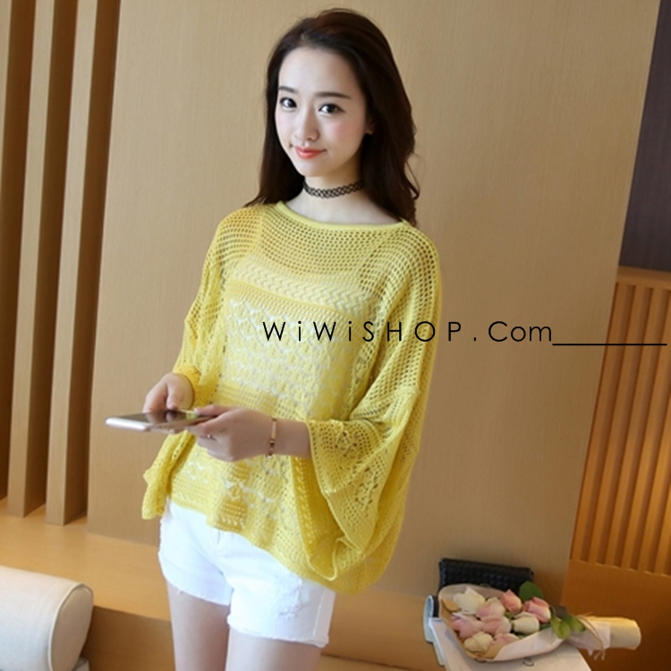เสื้อไหมพรหมสีเหลือง