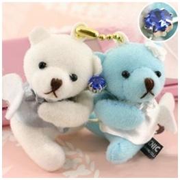 พวงกุญแจน้องหมีในชุดนางฟ้า สุดน่ารัก