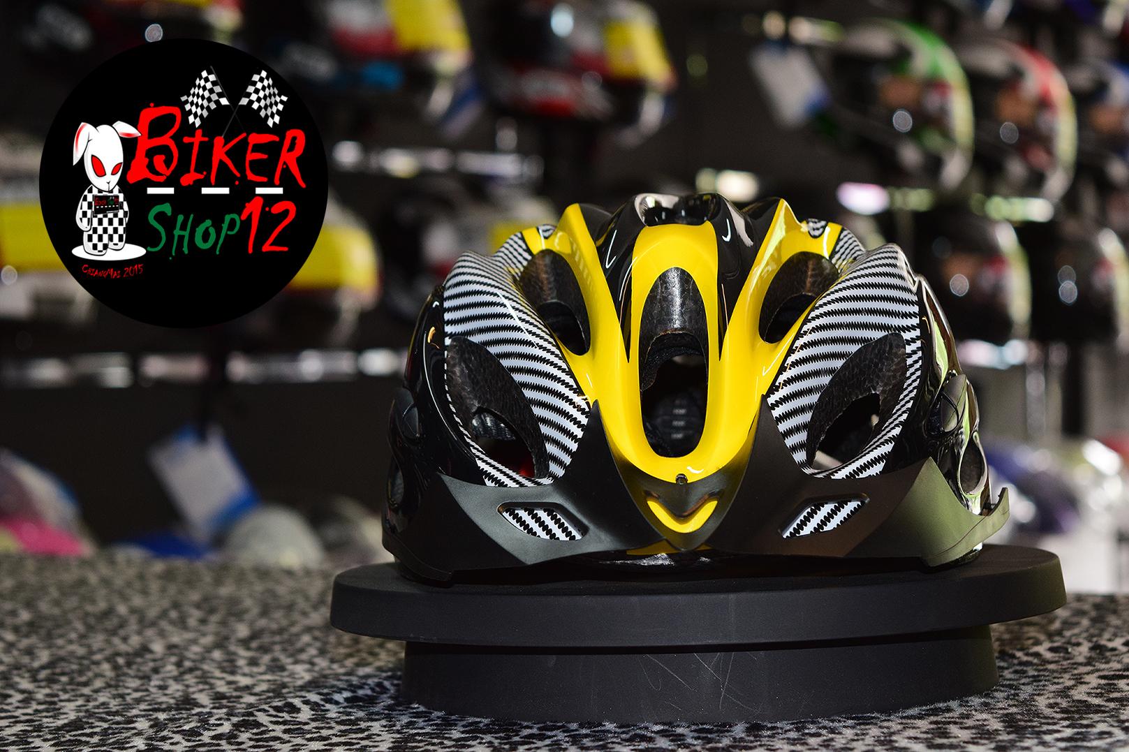 หมวกกันน็อค จักรยาน สีเหลือง-ดำ