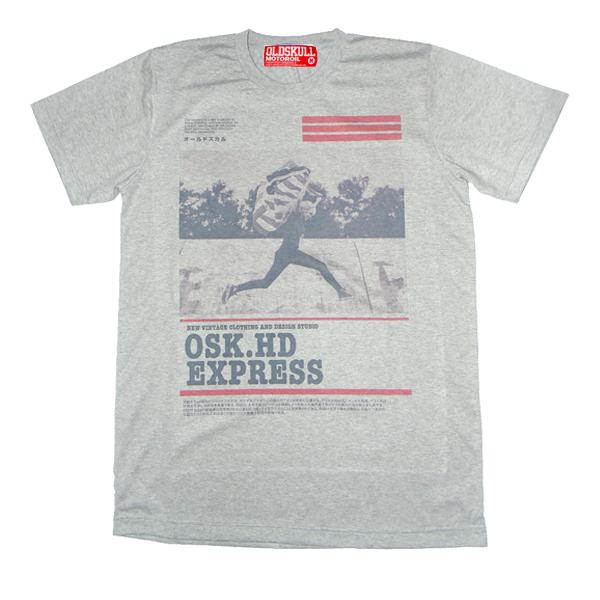 เสื้อยืด OLDSKULL : EXPRESS HD #37 | เทาท็อปดราย