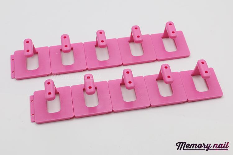 ชุดแท่นฝึกเพ้นท์เล็บ ตัวแอล 10 ชิ้น สีชมพู