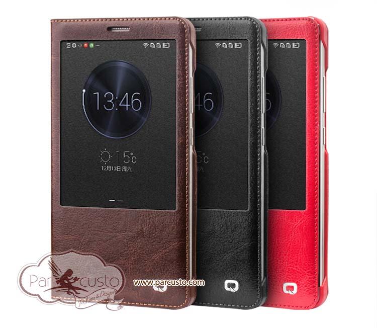 เคสหนังแท้แบบผิวเรียบ Huawei Ascend Mate 7 จาก QIALINO [Pre-order]