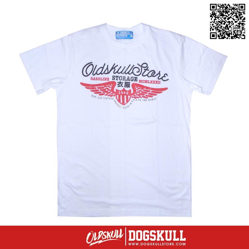 เสื้อยืด OLDSKULL: ULTIMATE HD#48 | สีขาว