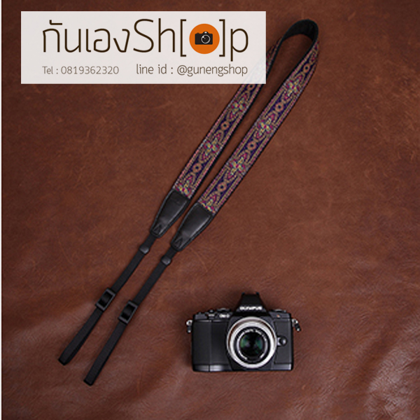 สายกล้องคล้องคอ Thai Style cam-in Violet Aura