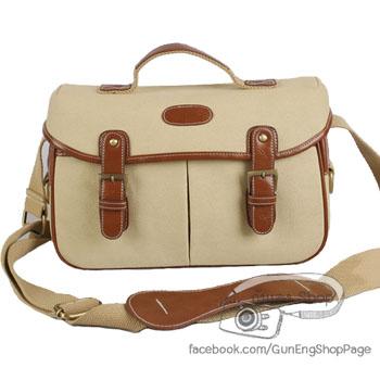 กระเป๋ากล้องแฟชั่นเกาหลี Trendy Bag Cream (M)