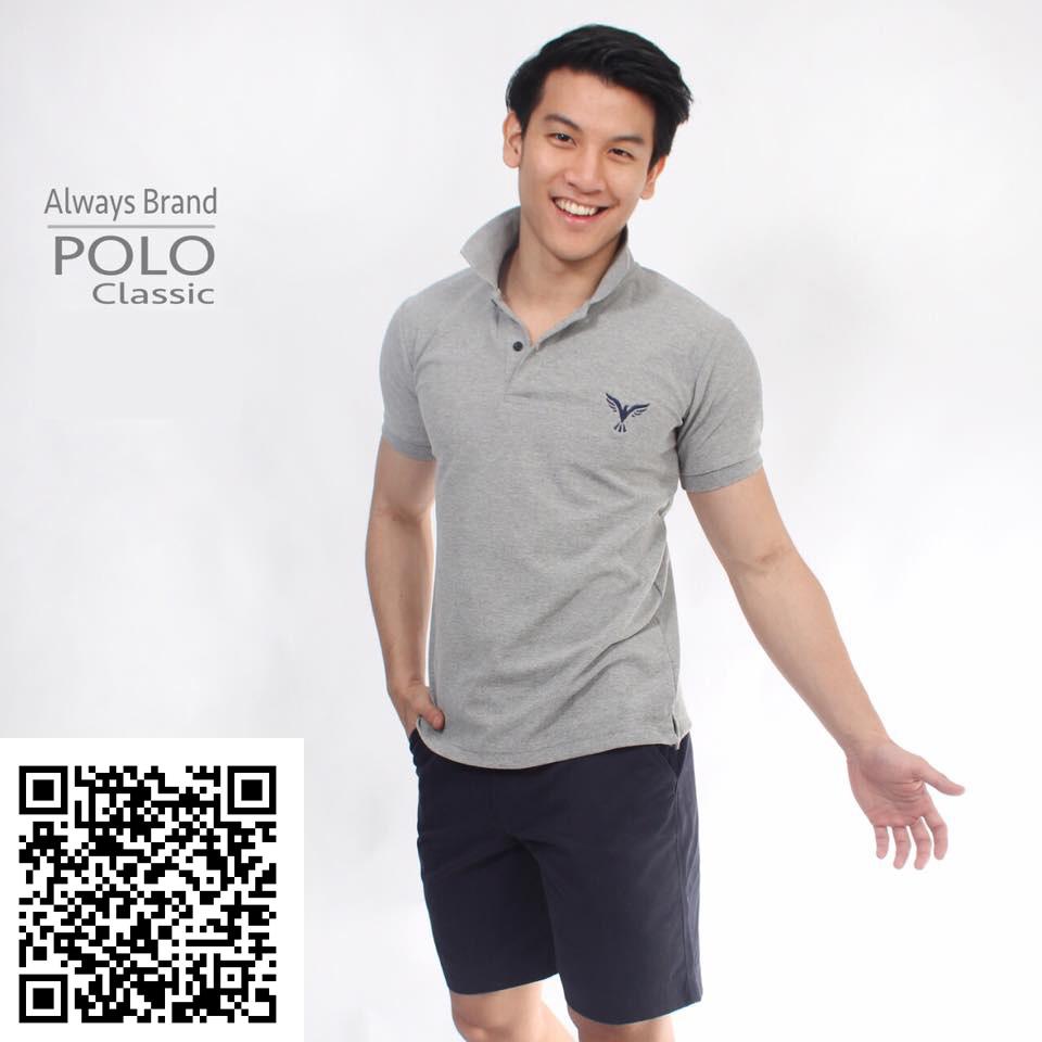 เสื้อโปโล Always - POLO รุ่น Classic   Top Dry Grey