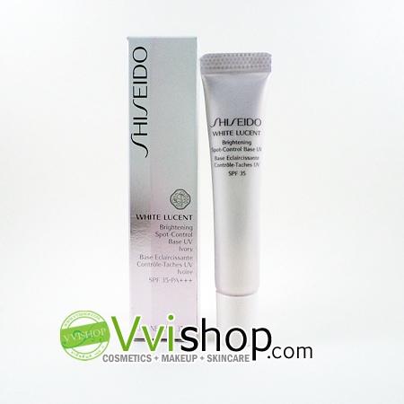 Shiseido White Lucent Brightening Spot-Control Base UV SPF 35 PA+++ 10ml # Ivory สีเนื้อ ใช้ได้ทุกสีผิว เมคอัพเบส อำพรางจุดบกพร่อง ผิวขาว
