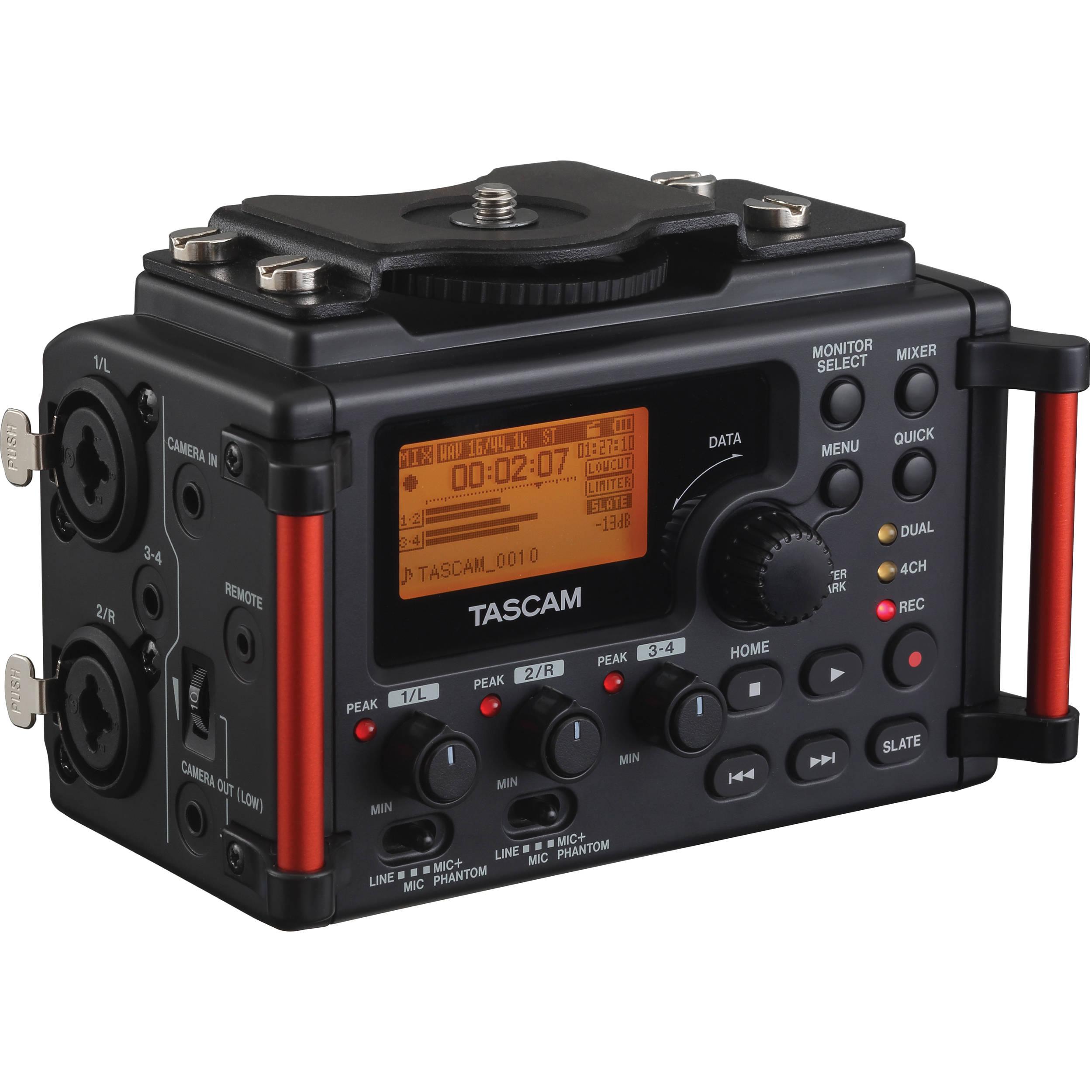 Tascam DR-60MK2 Portable Recorder Designed for DSLR Filmmakers