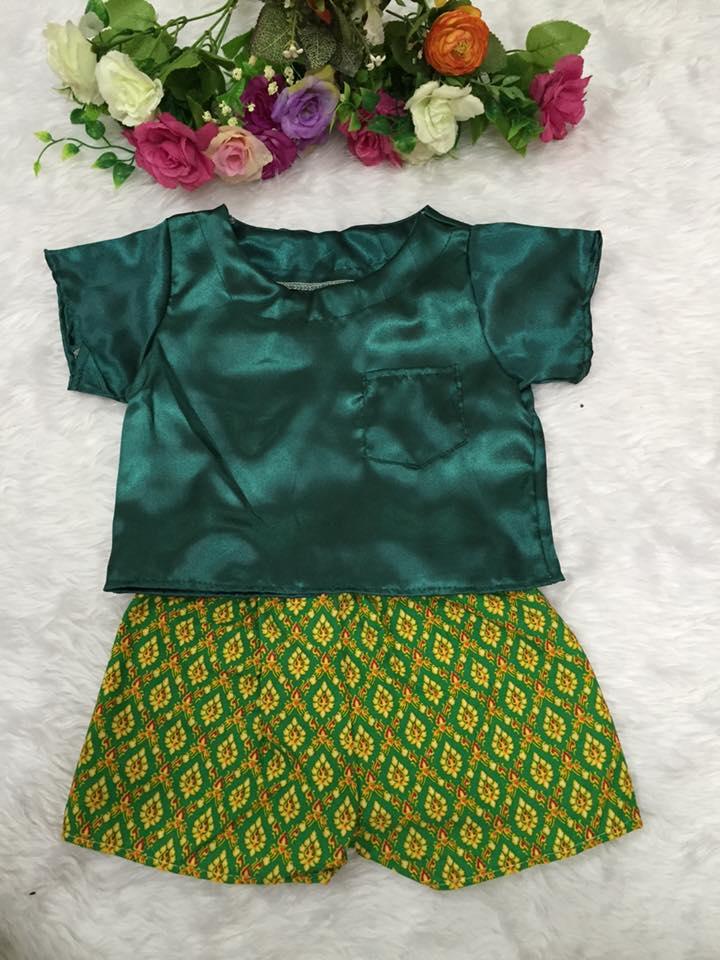 ชุดไทยเด็กชาย-สีเขียว