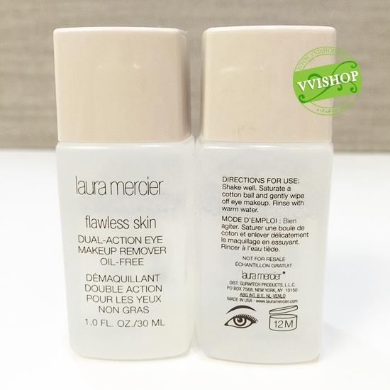 Laura Mercier Flawless Skin Dual-Action Eye Makeup Remover Oil-Free 30 ml. เช็ดเครื่องสำอางค์รอบดวงตาและริมฝีปาก ได้อ่อนโยน ปราศจากน้ำมัน *พร้อมส่ง*