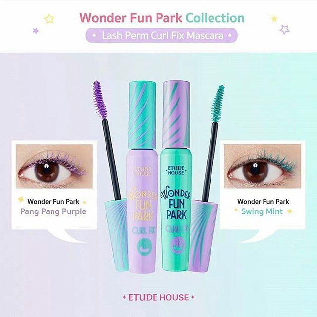 พร้อมส่ง Etude House Wonder Fun Park Lash Firm Curl Fix Mascara 8g. มาสคาร่าที่ให้ขนตางอนยาวตลอดวัน สีสันฟรุ้งฟริ้ง สดใส ช่วยให้ขนตางอนเด้งได้ถึง 24 ชั่วโมง เพิ่มความยาวให้ขนตา