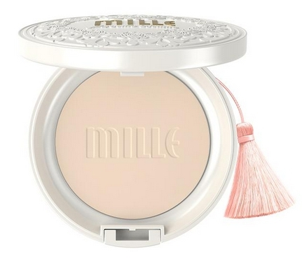 Mille Super Whitening Gold Rose Pact SPF48 PA+++No.2 Natural ผิวสองสี