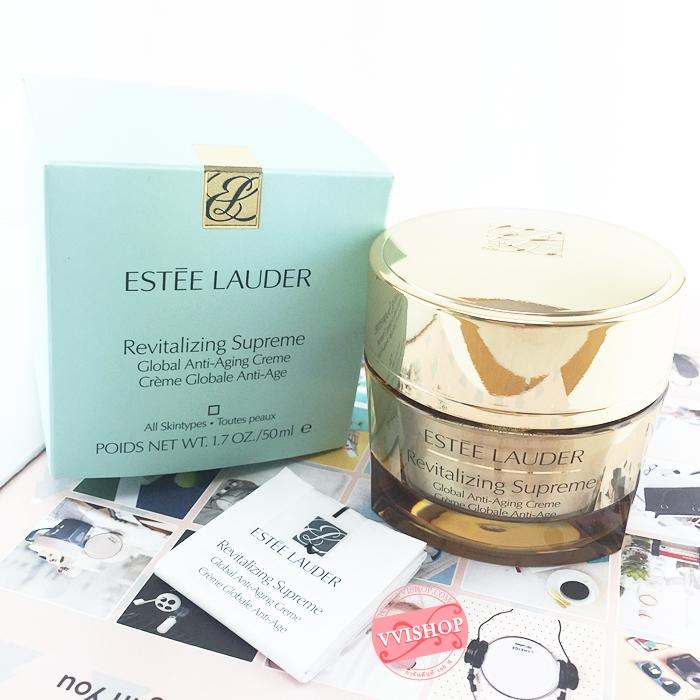 Estee Lauder Revitalizing Supreme Global Anti-Ageing Creme 50 ml. สูตรทรงประสิทธิภาพ เนื้อบางเบามอบสัมผัสที่อ่อนโยนหรูหราแต่มีประสิทธิภาพ