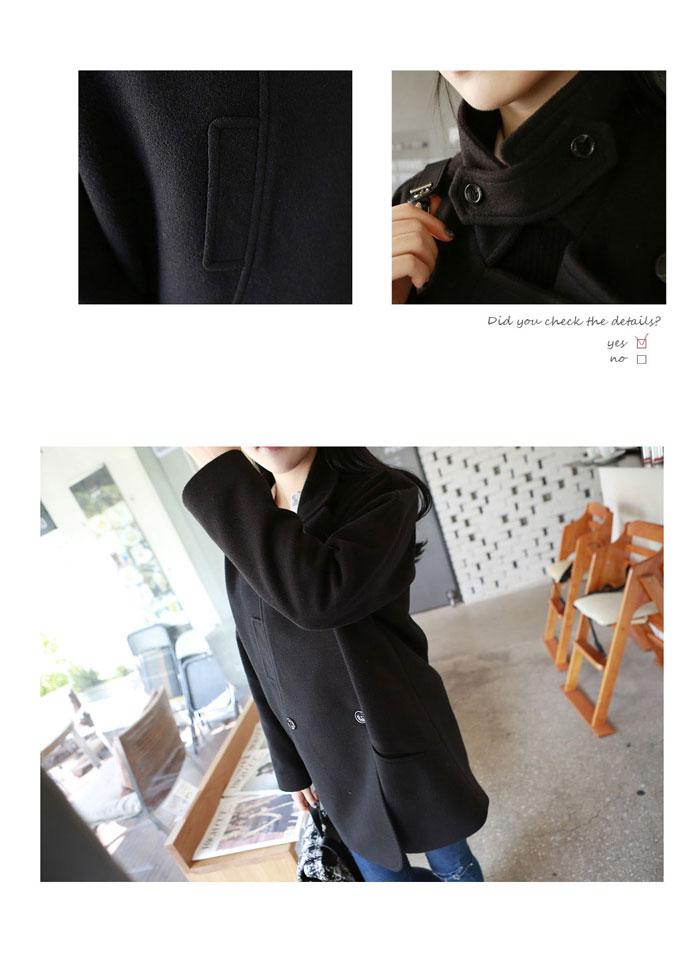 เสื้อโค้ทกันหนาวผู้หญิง สีดำ ยาวคลุมสะโพก ซับในบุนุ่ม หนาวไหน ก็เอาอยู่