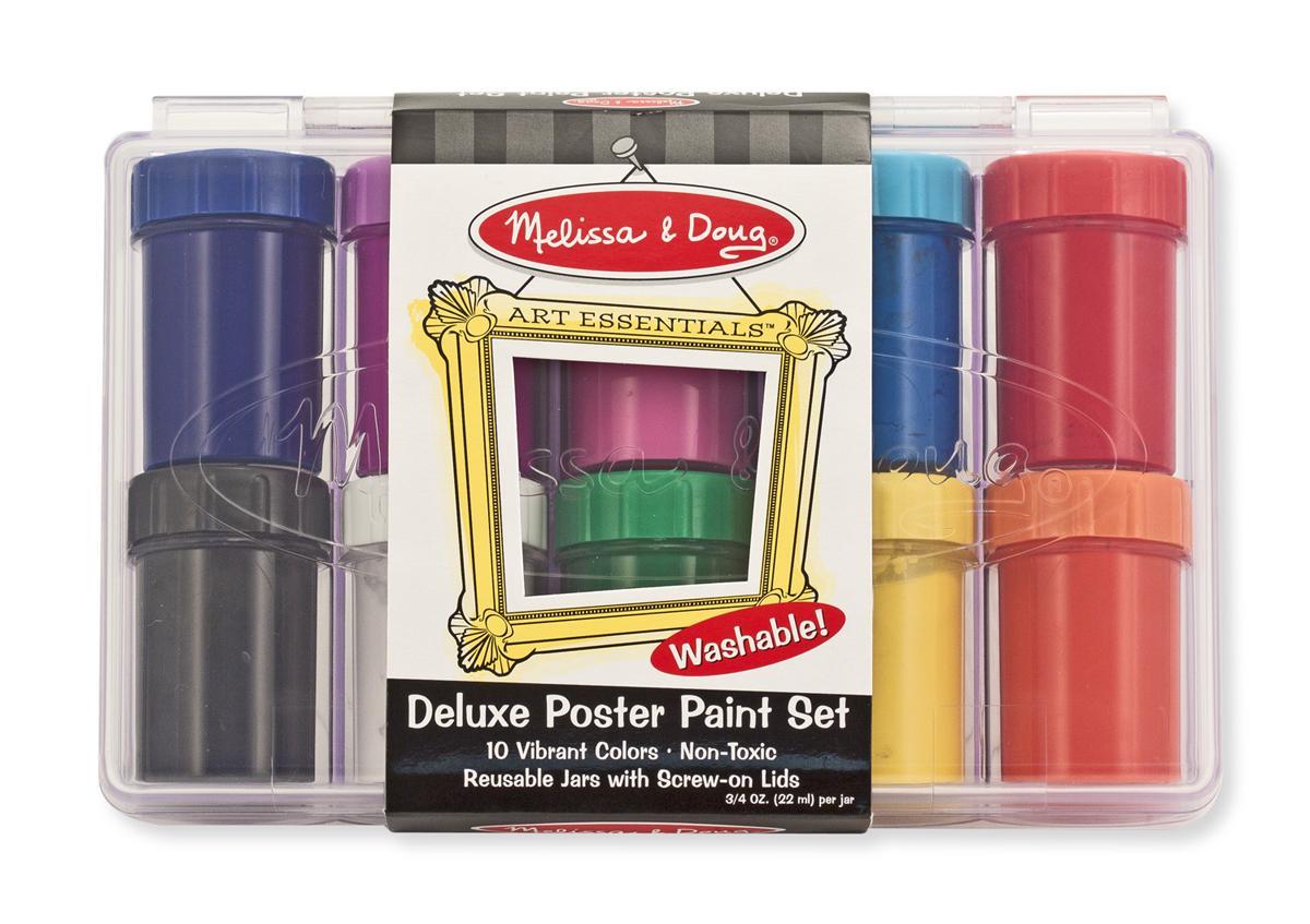 สีโปสเตอร์ปลอดสารพิษ Melissa and doug Deluxe Poster Paint Set (10 Bottles)