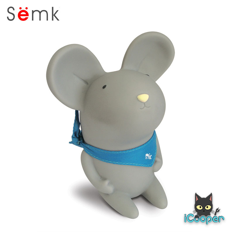 Semk - Mic Saving Bank (Rat Sitting/Gray 12.5cm)