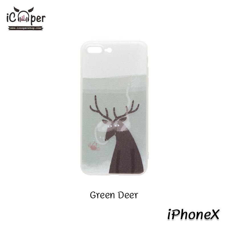 MAOXIN Island Case - Green Deer (iPhoneX)
