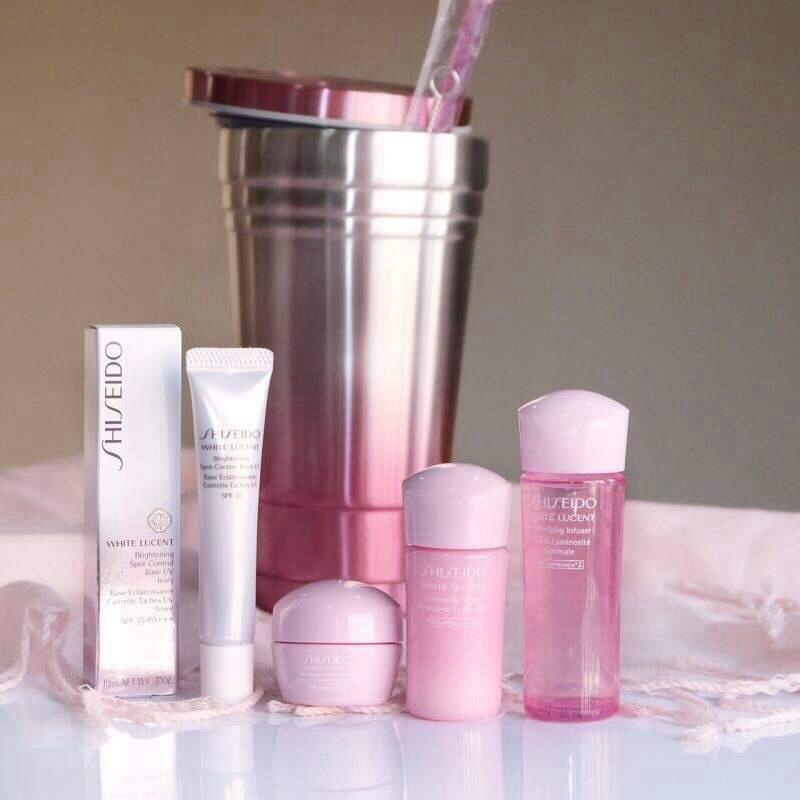 Set #Shiseido White Lucent+แก้วสแตนเลสคล้ายสตาร์บัค