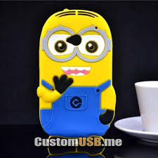 HTC One M7 เคสยางนิ่มซิลิโคน ลายมินเนี่ยน