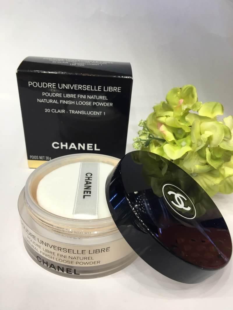 #Chanel Poudre Universelle Libre Natural Finish Loose Powder ปริมาณ 30 g. (ขนาดปกติ) 20 #clair ขาวเหลือง