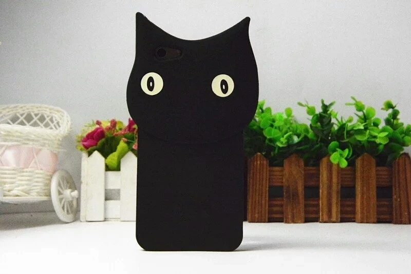 เคส oppo f1s เคสซิลิโคนรูปแมวสีดำ