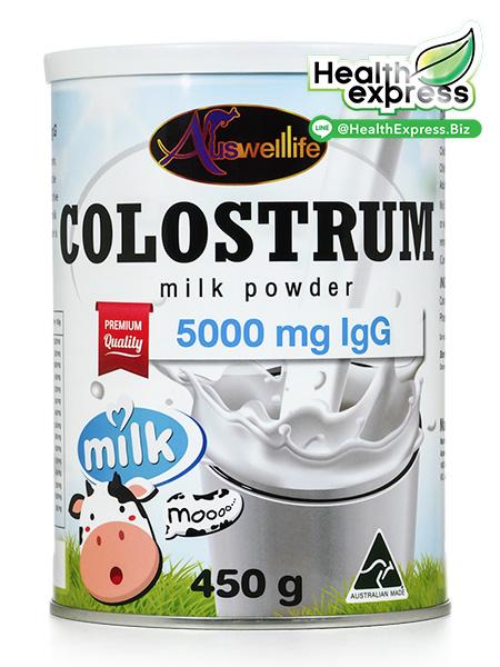 Auswelllife Colostrum Milk Powder ออสเวลไลฟ์ โคลอสตรุ้ม มิลค์ พาวเดอร์ ปริมาณสุทธิ 450 g.
