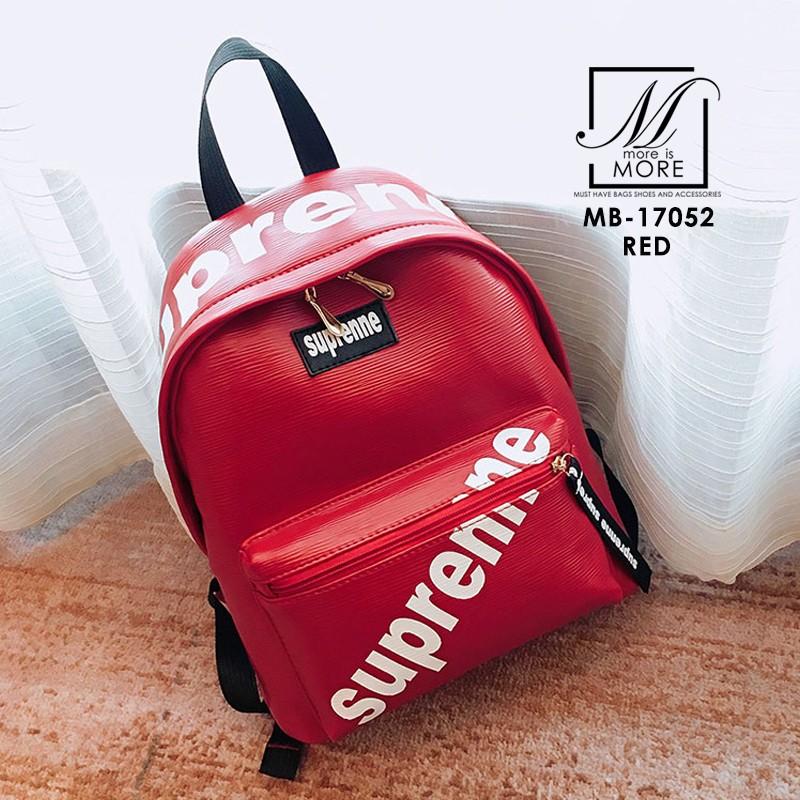 พร้อมส่ง กระเป๋าเป้แฟชั่นนำเข้าลายไม้สไตล์แบรนด์ดัง [สีแดง]