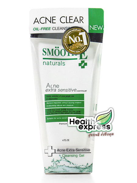 Smooth E Natural Acne Extra Sensitive Cleansing Gel ปริมาณสุทธิ 4FL.OZ.
