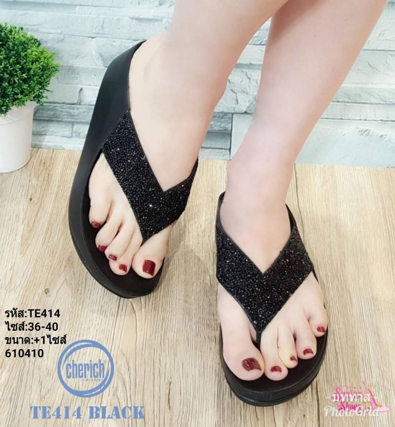 พร้อมส่ง รองเท้าสุขภาพ fitflop TE414-BLK [สีดำ]